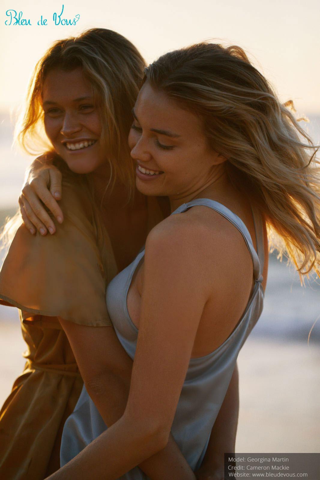 Georgina Martin and Chloe Lecareau shooting Australia